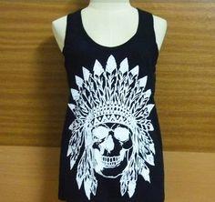 b8d6255883880d Tank top Skull Indian Native American shirt by BlackTeenFashion Skull Tank  Tops