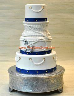 nautical wedding cakes | nautical-ancor-weddingcake-thecakezone-powel-crosley-fl