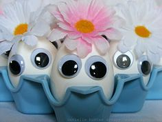 Easter Eggs with Googly Eyes