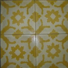 Snowflake Yellow Cuban pattern tiles...obsessed with Cuban tiles...