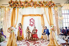 ceremony, mandap, chuppah, indian wedding decor, wedding design, wedding planning, south asian bride
