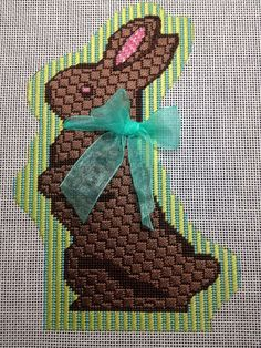 HUGS AND STITCHES: a chocolate Easter bunny hopped in last weekend....