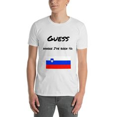 """Short-Sleeve Unisex T-Shirt Philippines """"Guess where I've been to"""" Travel Products, Shoulder Taping, Short Sleeves, Unisex, Slovenia, Philippines, Mens Tops, Cotton, T Shirt"""