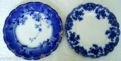 Flow Blue Pair OF Plates Ridgway AND Grindley | eBay --lovely pair, IMHO terribly overpriced!