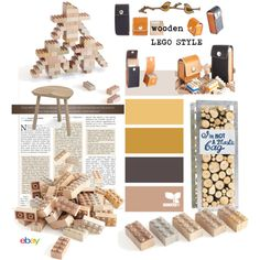 Wooden LEGO Style