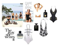 """Sun In Sexy Suits"" by lolly-p ❤ liked on Polyvore featuring Marc Jacobs, ASOS, Tom Ford, Chanel, Beach Riot, Mikoh, Agent Provocateur and Victoria's Secret"