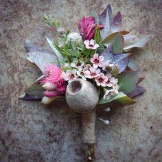 groom's boutonniere Swallows Nest Farm early autumn bush wedding
