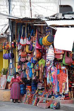 Typical guatemalan market colors