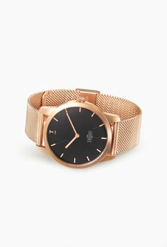 Matte All Black Mesh watch with black face by Our Theory Of | Get 10% off with…