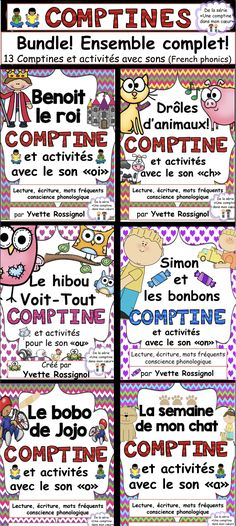 Mots fréquents, conscience phonologique, lecture écriture! French Teaching Resources, Teaching Kids, Teaching French Immersion, Communication Orale, French Poems, High School French, French Education, French Teacher, Phonics Activities