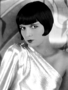 Louise Brooks, 1920s silent actress, used her eyes to express emotion and her hair to exude style