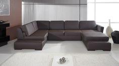 Moderní sedací souprava Helen 1 s výsuvnými polštáři Single Sofa Bed Chair, Single Couch, Sofa Bed Set, Corner Sofa Cheap, Corner Sofa Bed With Storage, Corner Sofa Design, Corner Sofa Bed Leather, Black Corner Sofa, Couch L Form