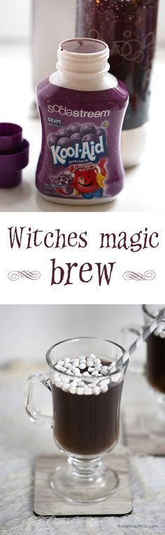 Witches magic brew on iheartnaptime.com ... easy and delicious! #Halloween #drinks