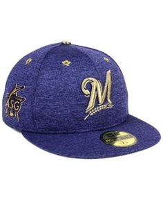 New Era Milwaukee Brewers 2017 All Star Game Patch 59FIFTY Cap - Blue 7 1/4