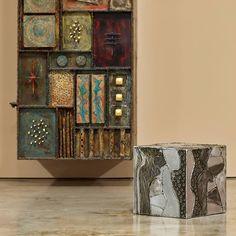 Paul Evans Studio Sculpture Front Wall Hung Cabinet, 1973 6