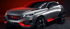 """Peugeot """"Cuarzo"""" Concept, un siniestro cruce híbrido, de 500 CV."""