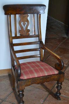 Mecedora antigua (Antigüedades - Muebles Antiguos - Sillones Antiguos), posiblemente en nogal. 600 €