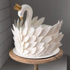 50 Most Beautiful looking Swan Cake Design that you can make or get it made on the coming birthday. Pretty Birthday Cakes, Pretty Cakes, Cute Cakes, Beautiful Cakes, Amazing Cakes, 3d Birthday Cake, Cake Cookies, Cupcake Cakes, Bolo Cake