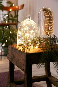 Fairy lights, Great buy, Battery operated led lights with the smallest battery pack on the market for a strand of suspended stars✨ Starry lights✨ Gorgeous lights on a copper coated silver discreet wir Christmas Trends, Noel Christmas, Christmas Inspiration, All Things Christmas, Christmas Crafts, Christmas Decorations, Xmas, Christmas Crunch, Holiday Decorating