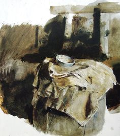 Andrew Wyeth (1917 — 2009, USA)  Blue measure. 1959  drybrush. watercolor on paper.58.2 × 39 cm.