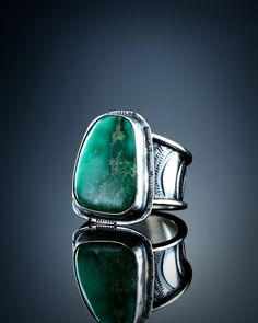 Broken Arrow Mine Variscite Ring size 7 1/4 by amybuettner on Etsy