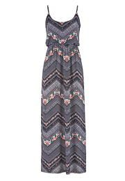 chevron and floral print maxi dress - maurices.com