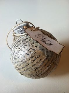 I love this ornament.  The tag is so beautiful and I love all the Bible verses!  Afterall, the real Christmas tree is the Cross.