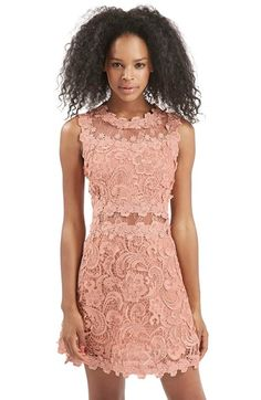 Free shipping and returns on Topshop Scallop Lace Dress at Nordstrom.com. A sleeveless dress bedecked with white embroidered lace is fitted at the bodice and waist while sheer illusion insets and scalloped edges complete the pristine look.