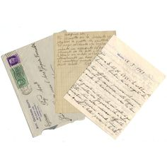 1943 Vintage handwritten letter - Italian ephemera - set 8 (6.70 AUD) ❤ liked on Polyvore featuring home, home decor, office accessories, fillers, misc, decor, extra and paper