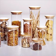 Mason jar kitchen glass jars and lids food candy storage tea container caning sealing mason jars .