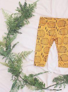 baby leggings, organic baby leggings, baby boy leggings, baby girl leggings, mustard hedgehog leggings by lucklagoon on Etsy https://www.etsy.com/listing/208024347/baby-leggings-organic-baby-leggings-baby