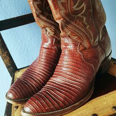 Justin Cowboy Boots  Absolutely gorgeous cowboy boots!! Very little wear!! Really pretty red color!! Little bit darker than photos! 3rd pic shows color best! The embroidery on this is stunning too! High quality boots!! Size 9 men's or 10.5/11 women's! Justin  Shoes