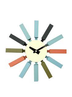 60% OFF George Nelson Block Clock, Multi