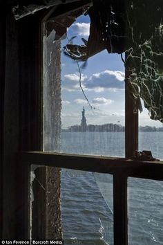What immigrants would see from the Ellis Island immigration center