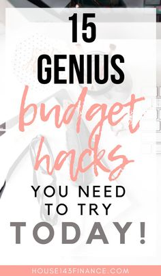 If you ever have trouble sticking to your budget then you NEED these 15 genius budget hacks in your life! These budget tips will help you learn how to stick to your budget, save more money, and find financial independence through successful budgeting. Budget Help, Making A Budget, Making Ideas, Tight Budget, Planning Budget, Budget Planner, Financial Planning, Financial Budget, Financial Peace