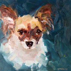 "Daily Paintworks - ""Portrait of Nikki"" - Original Fine Art for Sale - © miranda dalessi"