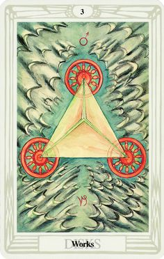 Belle Constantinne - Three of Disks - The Thoth Deck by Aleister Crowley