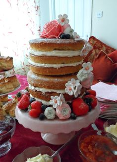 Delicious Designs by Jill Pryor: Gluten Free Naked Cake! Edible Creations, Edible Art, Gluten Free Desserts, Dairy Free, Naked, Baking, Breakfast, Recipes, Food