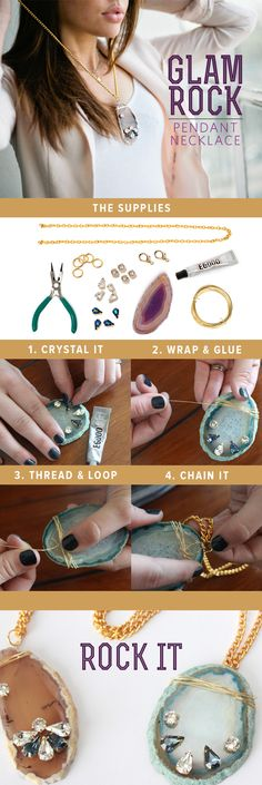 Make this Pendant | #darbysmart  Click to See Supplies @Debbie Zubaty Hayley You could totally make me one! :)