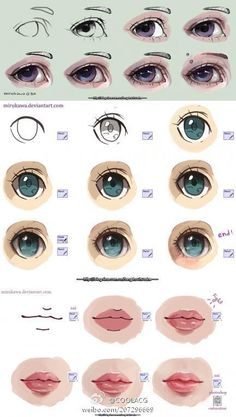 COOLACG的照片 - 微相册@汪叽采集到么么么么大(21图)_花瓣 Mouth Painting, Eye Painting, Painting Process, Eye Drawing Tutorials, Sketches Tutorial, Art Tutorials, Eye Tutorial, Digital Art Tutorial, Digital Painting Tutorials