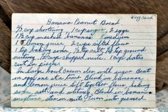 A classic vintage recipe from the files - Banana Peanut Bread