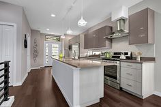 Custom Design Cabinets in Seattle Cabinet Design, My Dream Home, Kitchen Island, Color Schemes, Custom Design, Flooring, Contemporary, Seattle, Kitchen Ideas