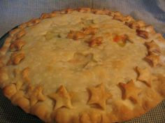 Chicken Pot Pie With 2 Crusts from Food.com:   This is old-fashioned, from scratch, comfort food. This has been a family favorite for years. I like to take this to other families when they are in need of a meal. It's always a winner. I like making it with leftover turkey, too! I often add some cooked diced potatoes.