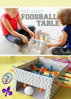 Mini foosball craft/activity