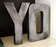 Anthro inspired Faux Zinc lettering tutorial