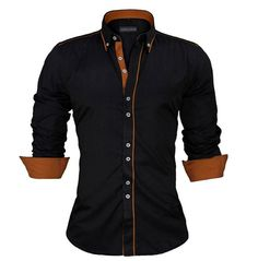 Men Dress Shirts Europe Size New Arrivals Stylish Slim Fit Male Shirt Solid Long Sleeve British Style Cotton Men's Shirt Casual Shirts from Me… ! Slim Fit Dress Shirts, Slim Fit Dresses, Fitted Dress Shirts, Chemise Slim Fit, Cotton Shirts For Men, Men Shirts, British Style, European Style, Shirt Style