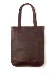 Keecie: soft leather shopping bag