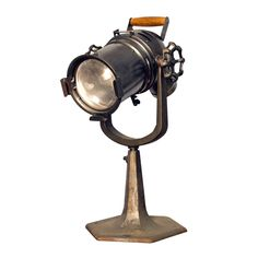 For the home with industrial/salvage style -- Vintage Century #Lighting Broadway Stage Spotlight #decor
