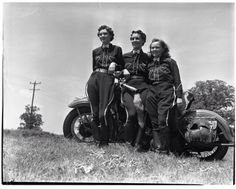 Members of the Devil Dogs Motorcycle Club, Ann Arbor, 1938. Photographer Eck Stanger – via Old News/Ann Arbor News