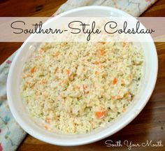 Southern-Style Coleslaw - this is SO much like KFC's!
